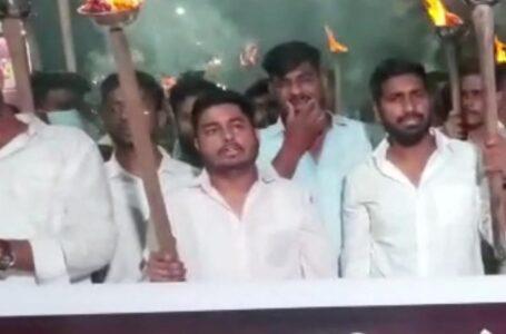 छत्तीसगढ़ एनएसयूआई ने उत्तर प्रदेश में हुए किसानों के साथ नरसंहार के खिलाफ रायपुर में निकाली मशाल रैली